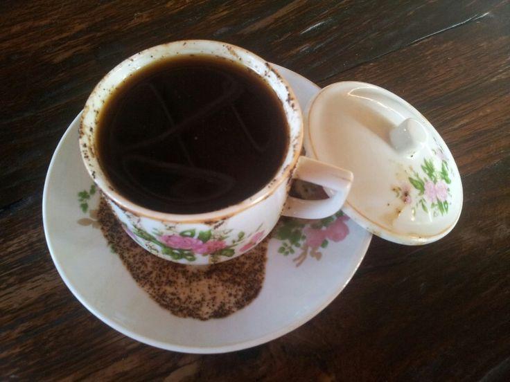 Kopi item warung Kencur Probolinggo