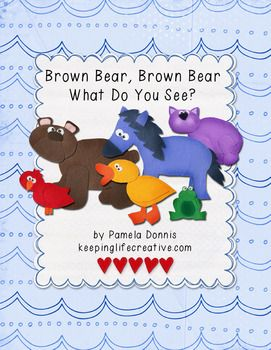 Crafts for Kids | Printable Story Set for retelling the story of Brown Bear, Brown Bear, What Do You See?