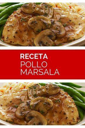 El Pollo Marsala, es una de las recetas más populares en los almuerzos italianos. Una excelente y saludable opción para los amantes de las carnes blancas.