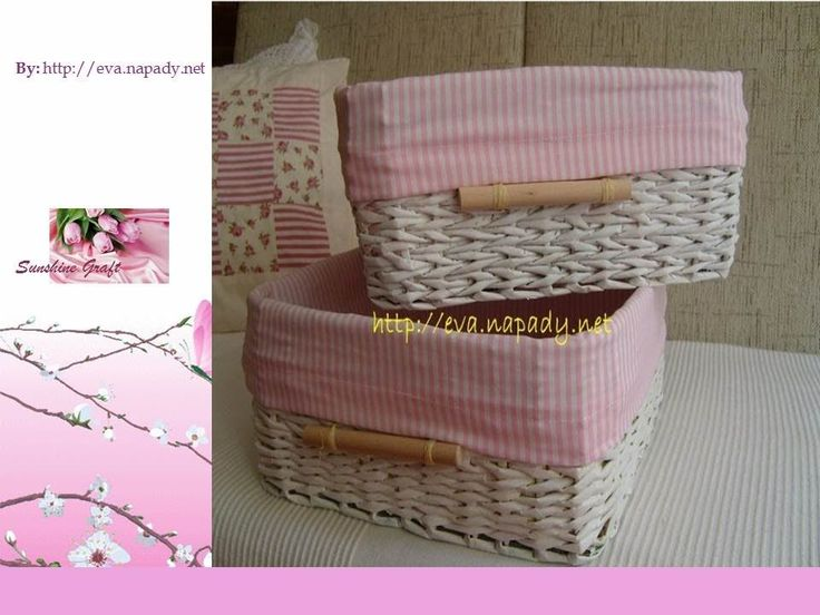 Basket from Newspaper Part 2