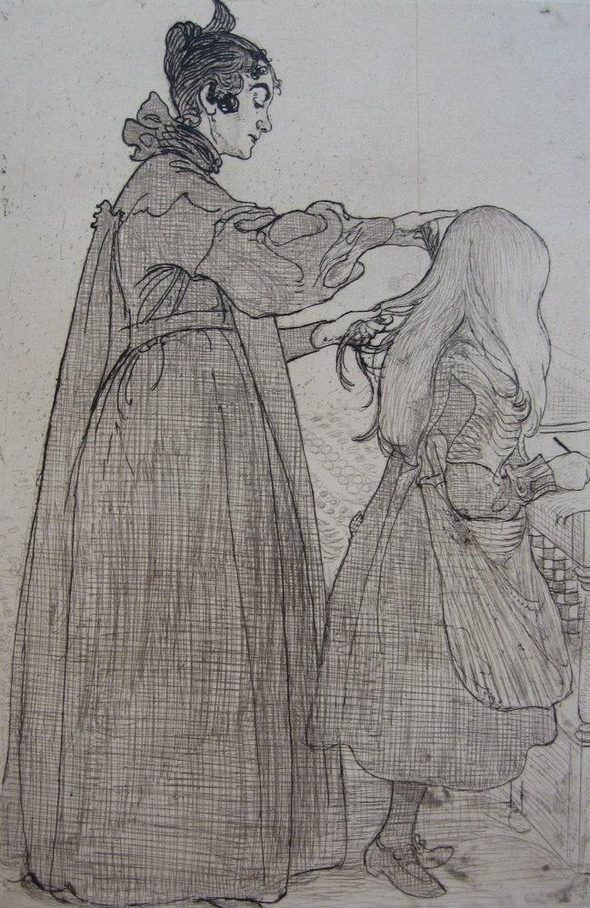 Carl Larsson Karin Och Kersti 1904 Etching