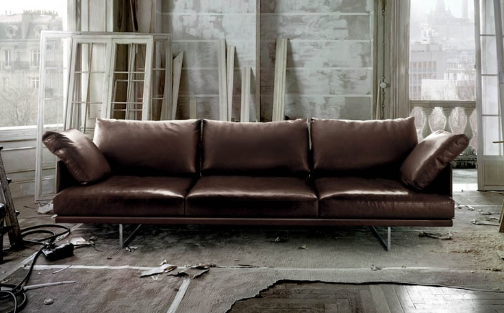 Cassina leather sofa 202 Otto I believe LIVING ROOM Pinterest