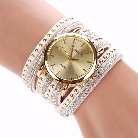 New Ladies Luxury Crystal Rivet Bracelet Watch - Perfect For All Occasions! Click Visit Today to get this Great Deal! Only A Few Remaining!! #BigStarTrading.