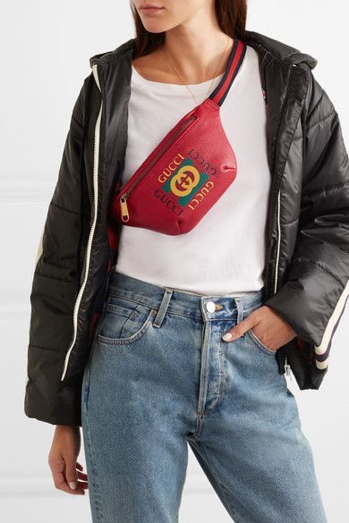 6539c0f1d9f Gucci - Printed Textured-leather Belt Bag in 2019