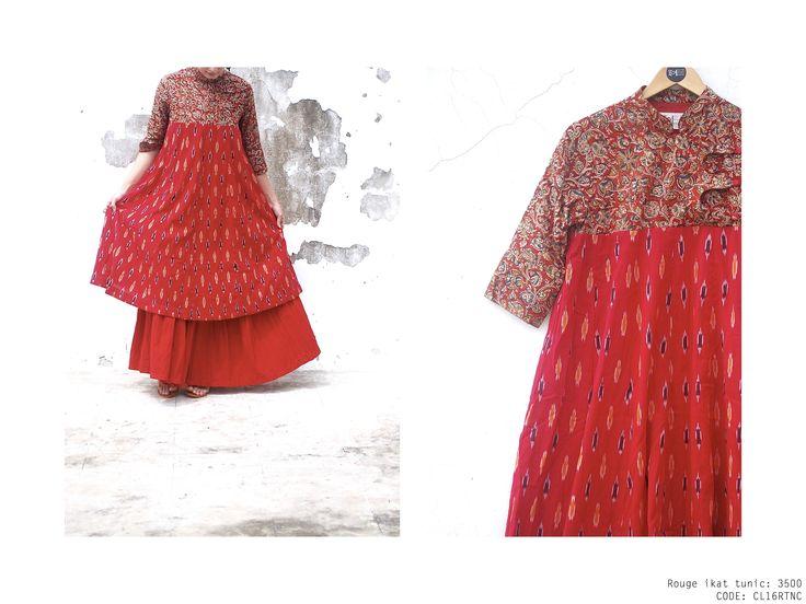 Rouge ikat tunic #kalamkari #indian #maxidress #cotton #handcrafted #black #boho #ethnic #ikat #textures #handprint #mint #voile #vintage #bandhgala https://www.facebook.com/itrbykhyati