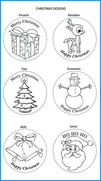 Christmas Mixed Designs - Colour In Yourself Badges