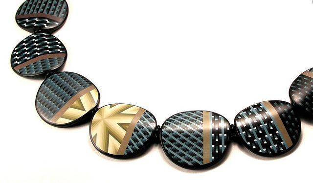 Matrix Necklace   Flickr - Photo Sharing! ~ Dan Cormier; Polymer Artist