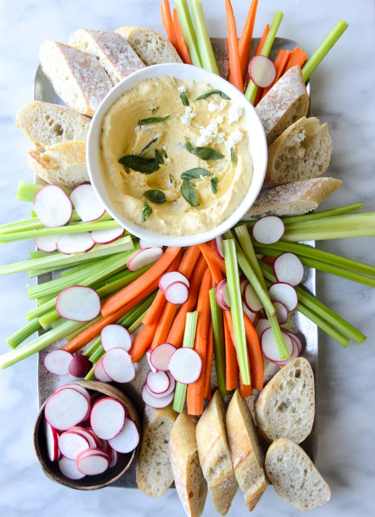 Pumpkin Goat Cheese Dip with Crispy Sage by @howsweeteats