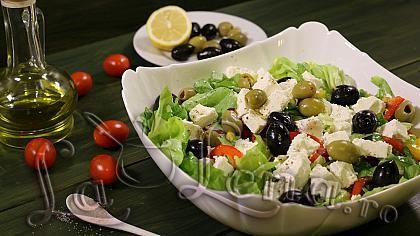 Salata Greceasca - Reteta VIDEO