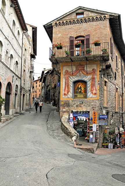Shopping at Assisi, Umbria, Italy