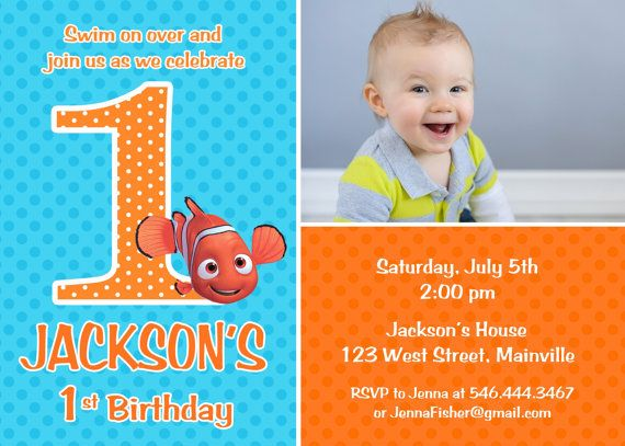 Finding Nemo Birthday Party Invitation Any Age Printable on Etsy, $8.99