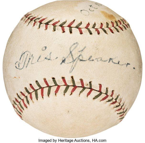 Autographs Baseballs 1928 Ty Cobb Tris Speaker Dual Signed Baseball In 2020 Ty Cobb Tris Speaker Baseball