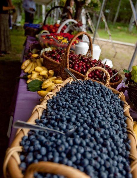 fresh fruit buffet - especially for a morning wedding