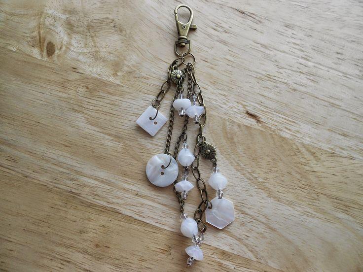 Izabela craftwork ... white handbag charms:http://izabelacraftwork.blogspot.ro/2014/07/handbag-charms.html