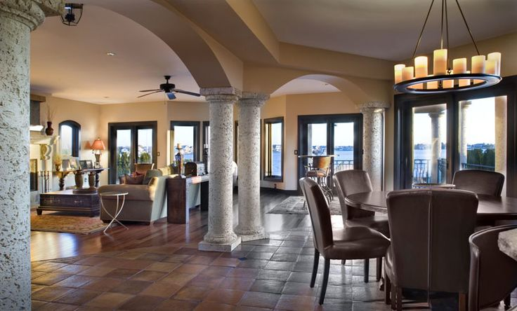 Love the arches pillars very spacious home for Columns in houses interior