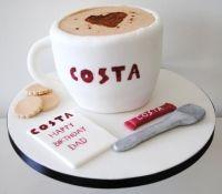 Costa Coffee Birthday Cake Design