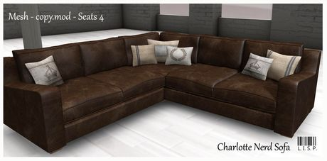 LISP - Mesh - Charlotte Nerd Soft Leather Couch