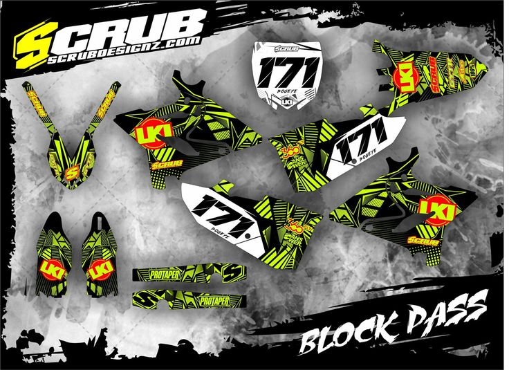 Get your crazy assed custom graphics from the pros at scrubdesignz mx motocross