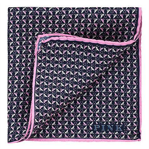 Buy Thomas Pink Monkey Heart Print Silk Pocket Square Online at johnlewis.com