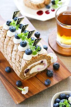 「グルテンフリー♡ブルーベリーのレアチーズロールケーキ」るぅ   お菓子・パンのレシピや作り方【cotta*コッタ】