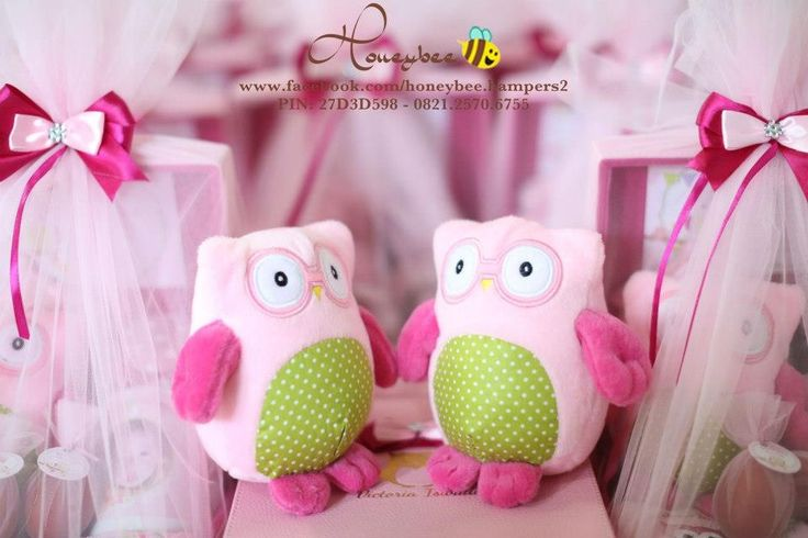 Pink owl plushy