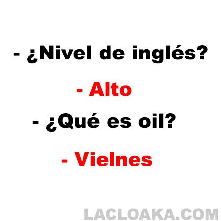 Chiste Nivel de ingles