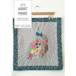August Parade Sewing Pattern applique and embroidery with CGT's Cozy Wool Felt