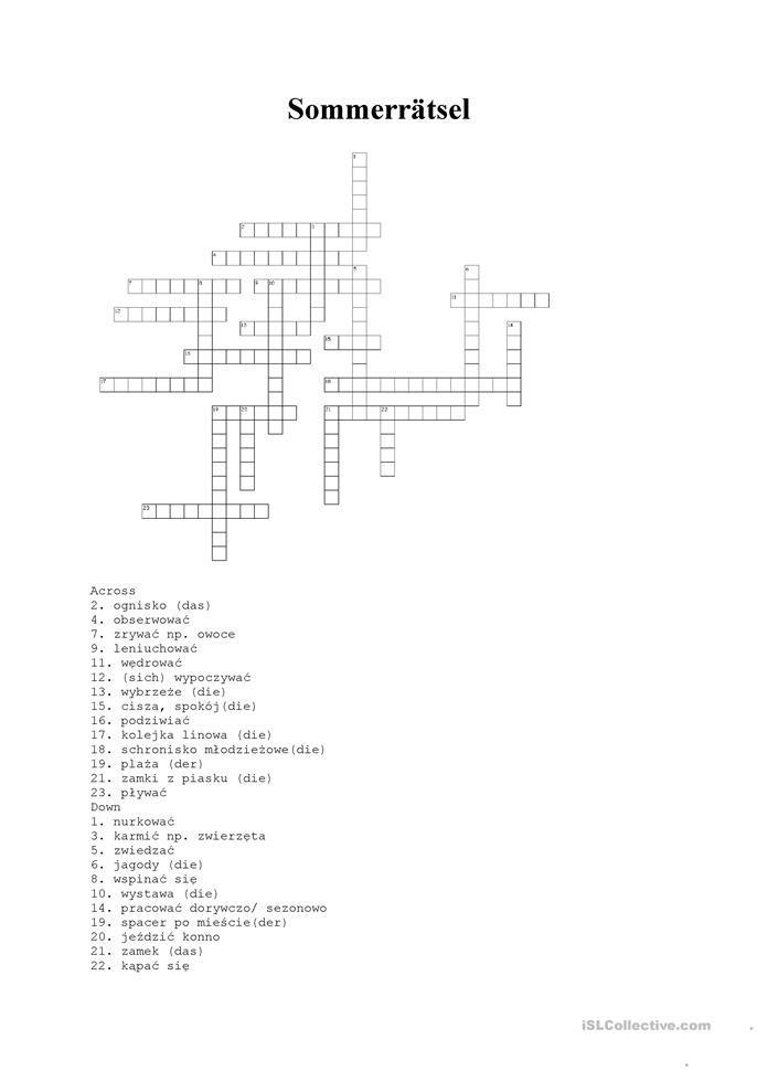 Lot Kreuzworträtsel