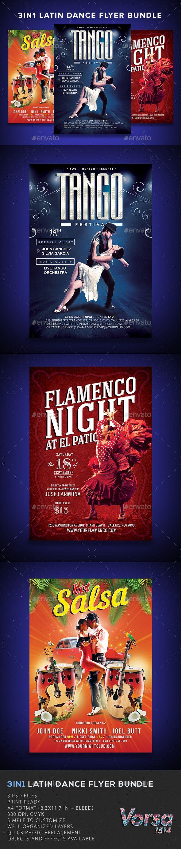 3in1 Latin Dance Flyer Bundle - Concerts Events