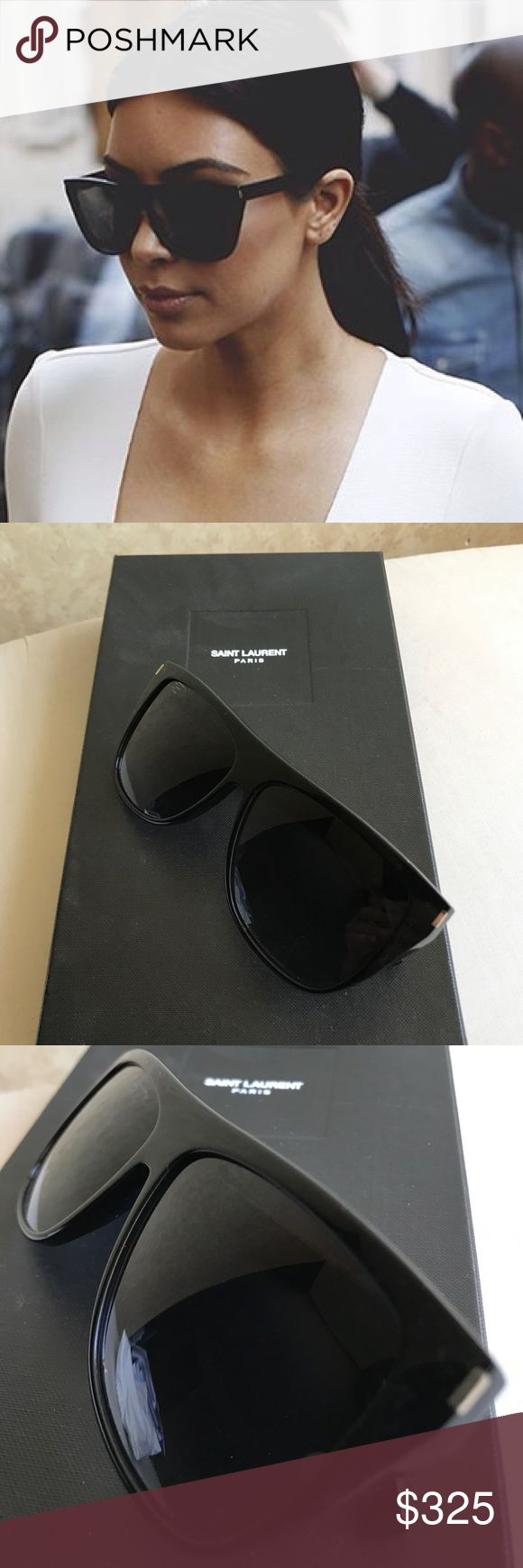 Saint Laurent SL 1 Sunglasses 100% Authentic. I still have the box and all original items that came when I purchased these at the Short Hills Mall in NJ. I took a pic of the receipt as shown. In good condition, worn multiple times. I never wear these anymore. They seem to be crooked on my head... can be fixed if brought to a sunglasses store but I don't bother because I have other pairs I like more. (First image from the Internet) Saint Laurent Accessories Sunglasses