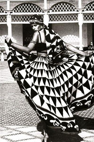 """Morocco Bound"", Vogue UK 1973 #tribalgeometrics"
