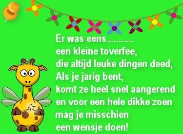 Verjaardag gedicht voor een kind: Er was eens een kleine toverfee...op Verjaardag-Gedicht.nl