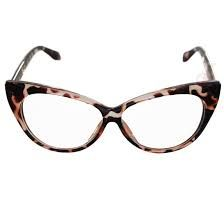 Óculos gatinho mesclado preto e bege