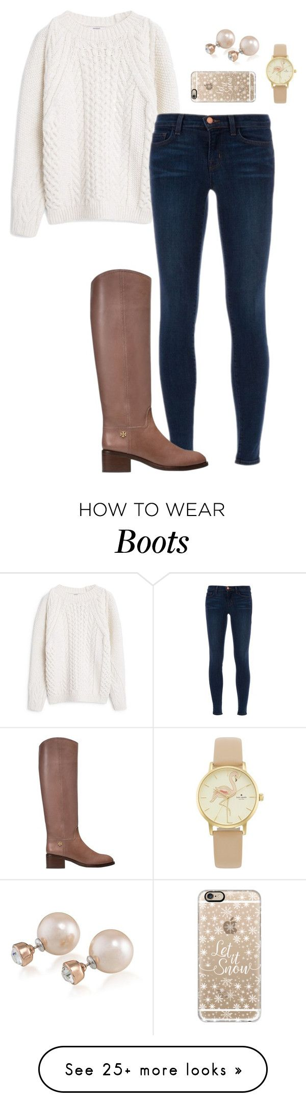 """Those boots"" by morganhaley45 on Polyvore featuring MANGO, J Brand, Tory Burch, Carolee, Kate Spade and Casetify"