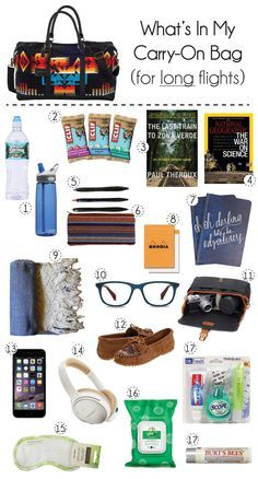 Tips for what to pack in your carry-on bag on an international flight. Follow @melindadiorio for more travel tips!