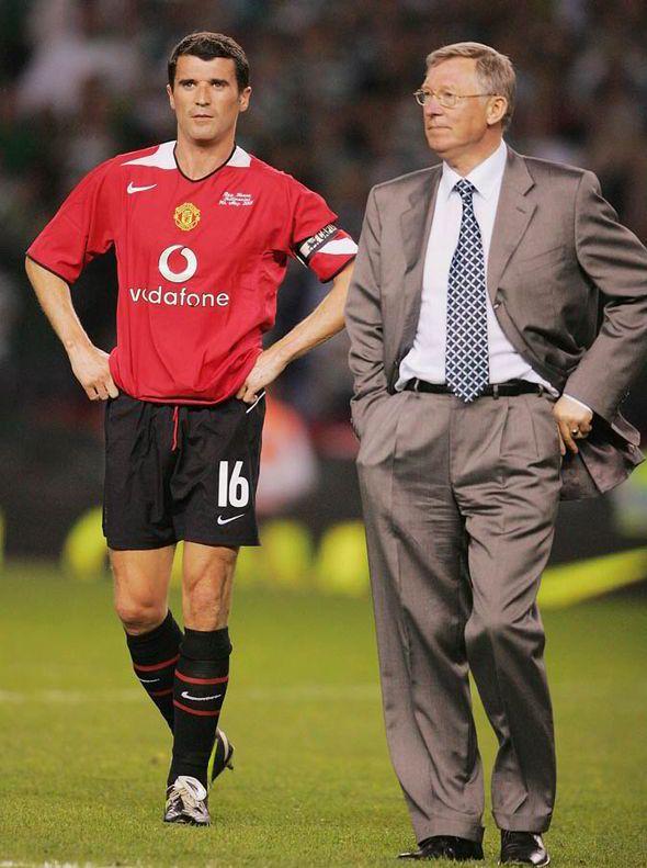 Roy Keane and Sir Alex Ferguson in 2005