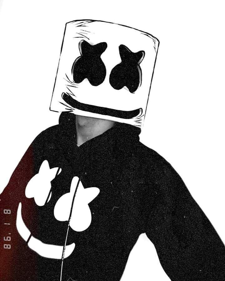 I Am Marshmello Marshmello Black White Art P I Am Marshmello Marshmello Black White Art P White Art Black White Art Black And White