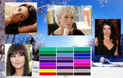 цветотип внешности зима