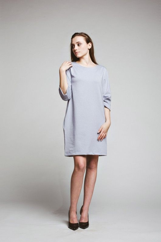 sukienki-Sukienka Mrs. Grey Dress oversized  casual black tunic