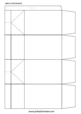 Milk Carton Box Template: When you have the TIME and pretty paper, few templates will beat the beauty and decorating possibilities of the original milk carton box template.  I make
