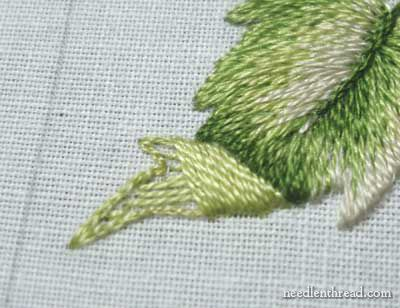 Long and Short Stitch Lesson 9: Leaf with a Turnover