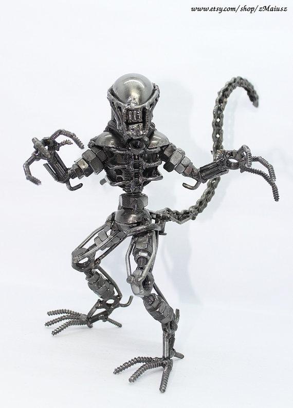 Scrap metal alien