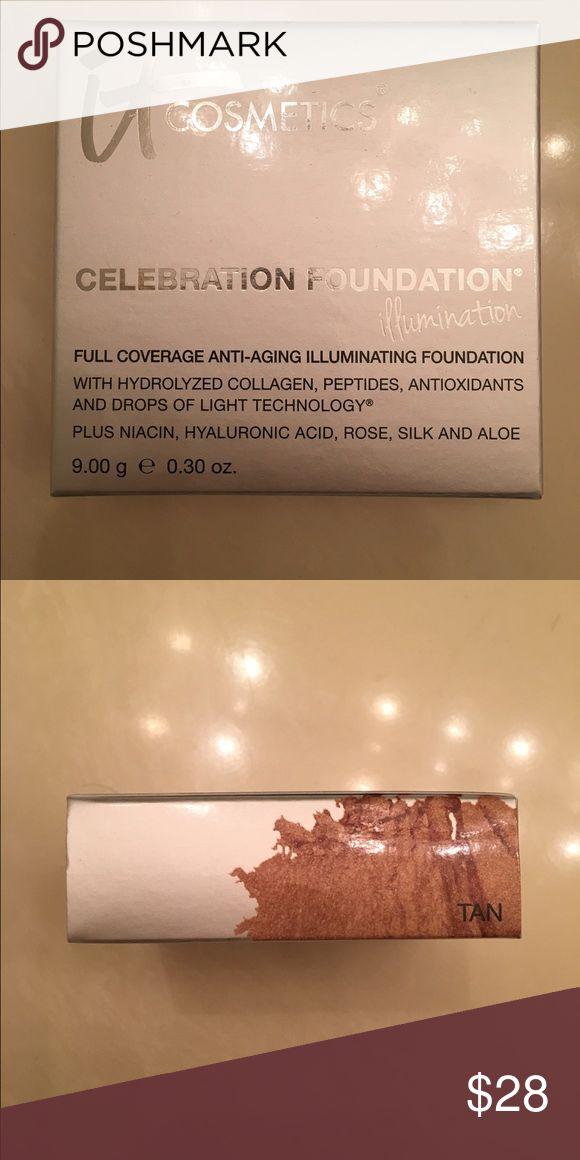 IT Cosmetics Celebration Foundation Illumination BN IT Cosmetics Celebration Foundation Illumination Compact in Tan it Cosmetics  Makeup Foundation