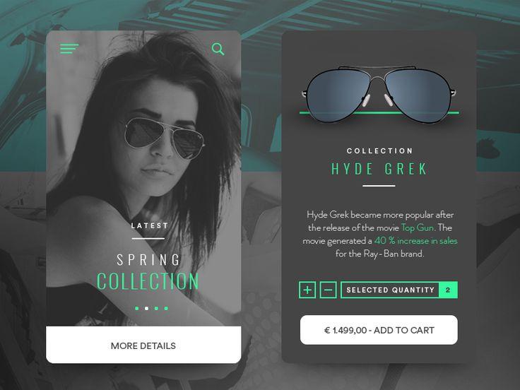 Sunglasses Mobile Ecommerce by Riccardo Marconato ⦿
