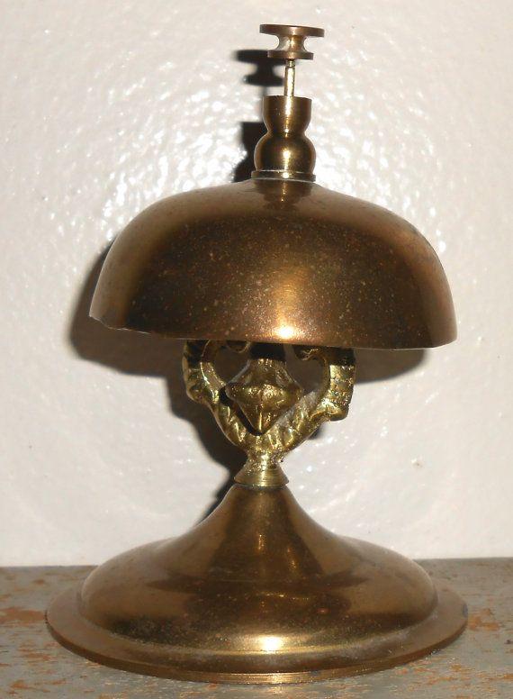Vintage Bell Brass Desk Bell Hotel Bell Brass Bell by TheBackShak, $70.00 - 23 Best Desk Bells Images On Pinterest Le'veon Bell, Desks And