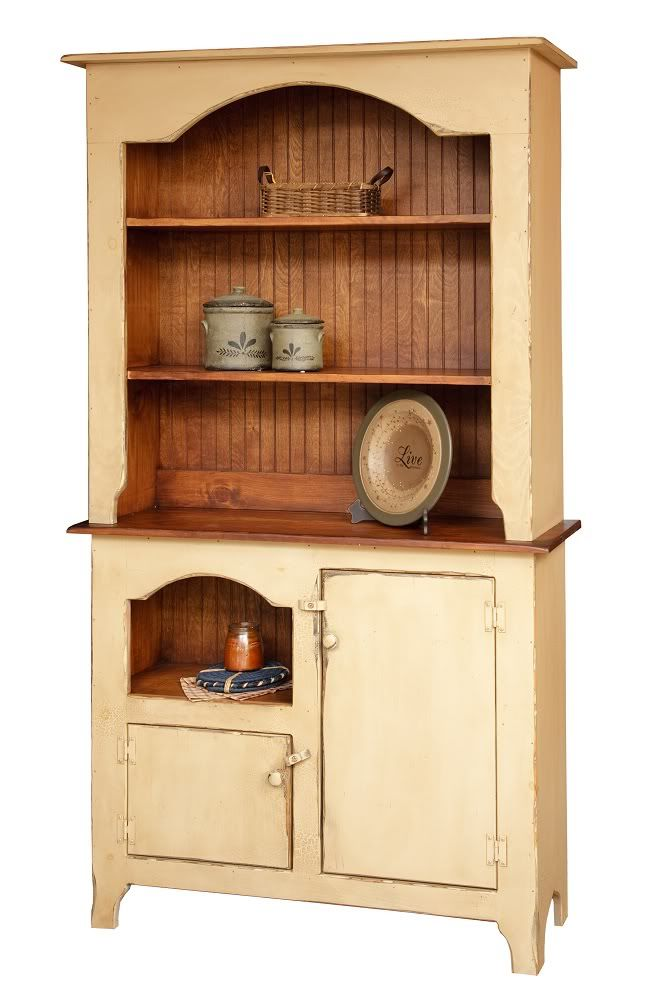 Great Primitive Country Furniture | Primitive Furniture Hutch Decor Country  Colonial Kitchen Cottage Pine .