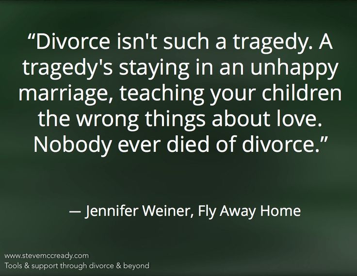 Is divorce better than an unhappy marriage?