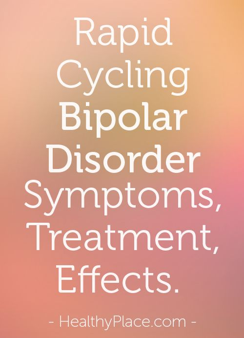 Learn about rapid cycling bipolar. Discover why rapid cycling bipolar disorder can be harder to treat than other types.   www.HealthyPlace.com