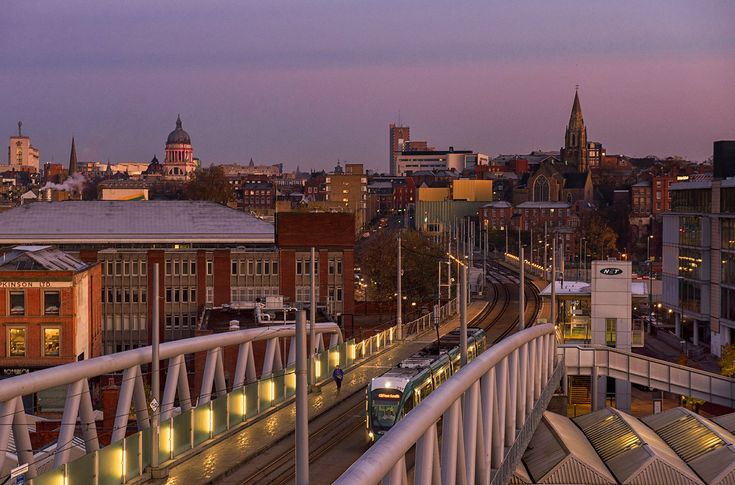 Sunrise over Nottingham. By Tracey Whitefoot‏ @TraceyWhitefoot