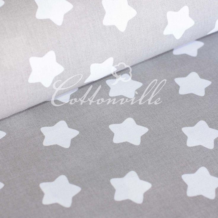 ✁  Отрезы хлопковой ткани Белые прянички на сером, фото 1